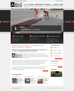 Wordpress Internetseite ABH-Asphalt.de