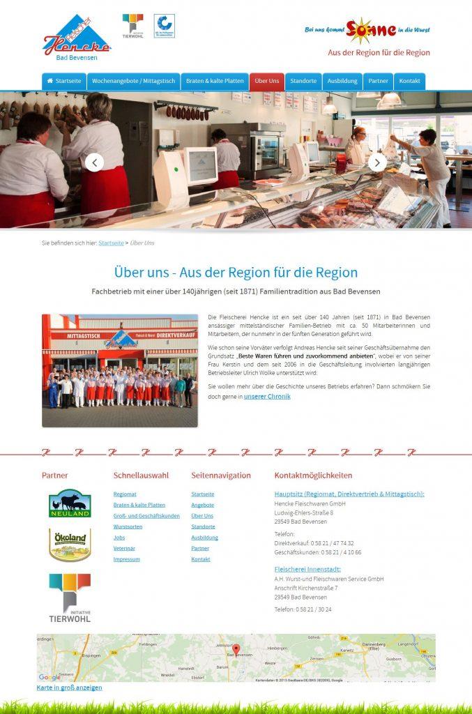 Beratung Internetseiten Fleischerei Hencke