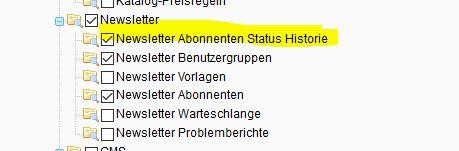 """Magesetup Firegento  Lösung – """"Zugriff verweigert"""" Bereich Newsletter Abonnenten Status Historie"""