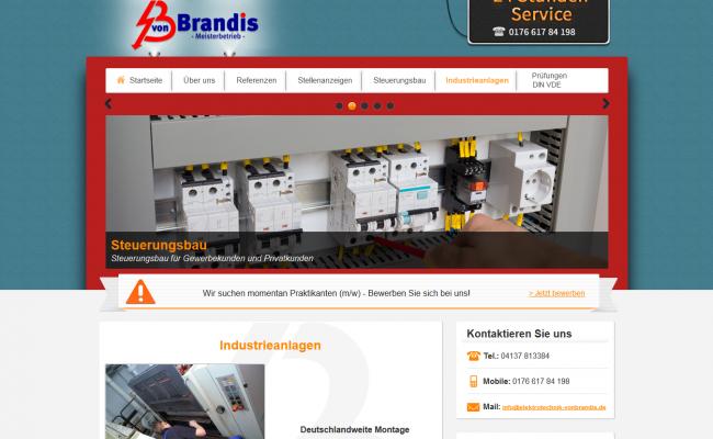 Internetseite-referenz-'Elektrotechnik von Brandis – Industrieanlagen-header