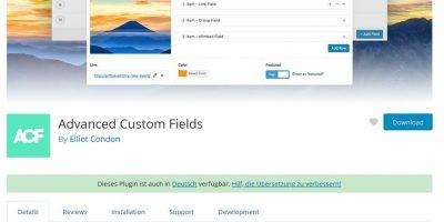 Lösung WordPress Erweiterung – Eigene Felder bzw. ACF / Advanced Custom Fields alle Felder verschwunden nach Update Version 4.4.12 auf Version 5.X