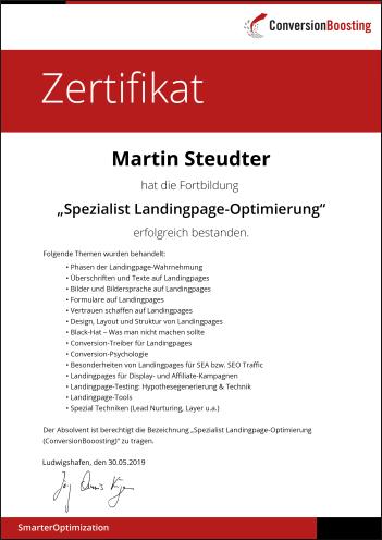 Zertifikat-spezialist-landingpage-optimierung-martin-steudter-conversionBoosting