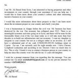Spam Fax von 001 304 5139167 – Ali Bassel