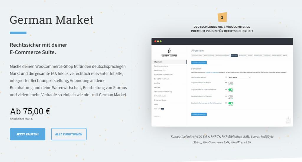 Deutsche Markt WordPress WooCommerce Erweiterung