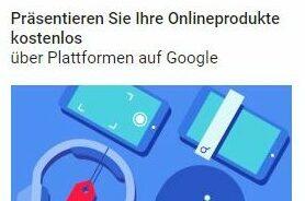 Produkte kostenlos über google shopping anzeigen – COVID19 Programm von google