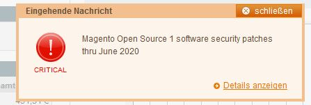 Support Ende Magento 1.9 – Magento 1 Support – Magento Open Source 1 software security patches thru June 2020 – keine Patches mehr