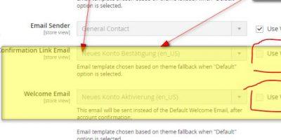 Magento 2.3.X – Adminbereich –  System Config Settings read-only – fehlenden Häkchen, können nicht geändert werden