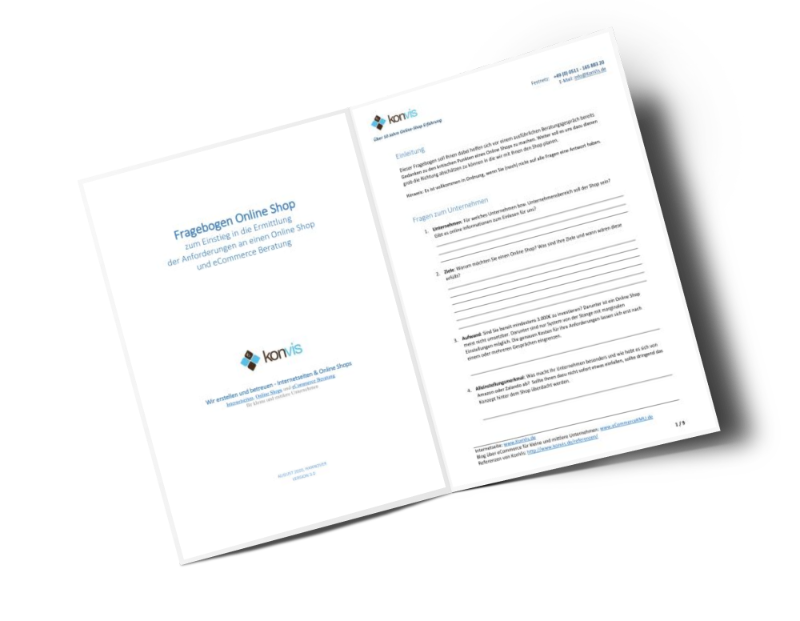 Magento Fragebogen Online Shop Anforderungen