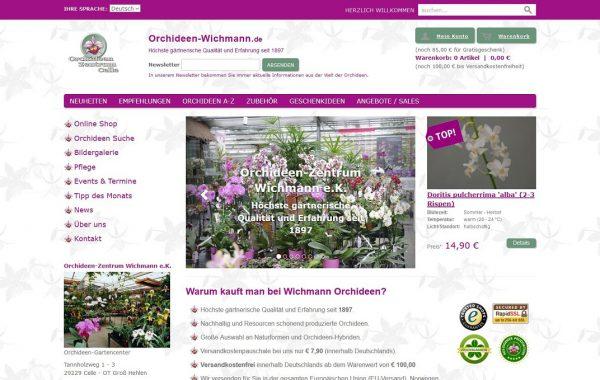 Orchideen Zentrum Wichmann e.K. Relaunch