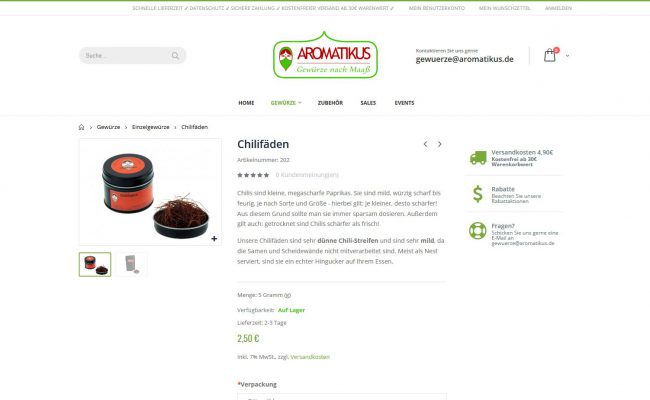 magento-shop-aromatikus-gewuerze-produktlevel
