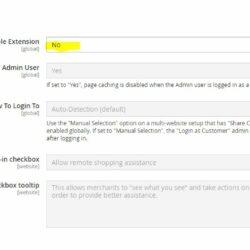 Magento 2.4.1 Remote Shopping Assistance – Kundenlogin Bereiche deaktivieren