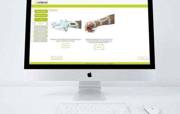 Orthesen Konfigurator – Uniprox