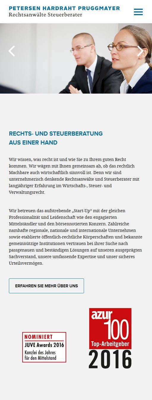 petersen-hardraht-pruggmayer-internetseite-steuerberater-rechtsanwalt-startseite-mobile-responsive-kanzlei