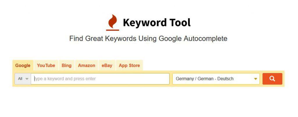 SEO Tool Keyword Tool Keyword Tool.io