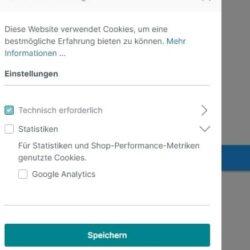 Shopware 6 – Cookie Consent Tool – Cookie Box deaktivieren – nicht möglich