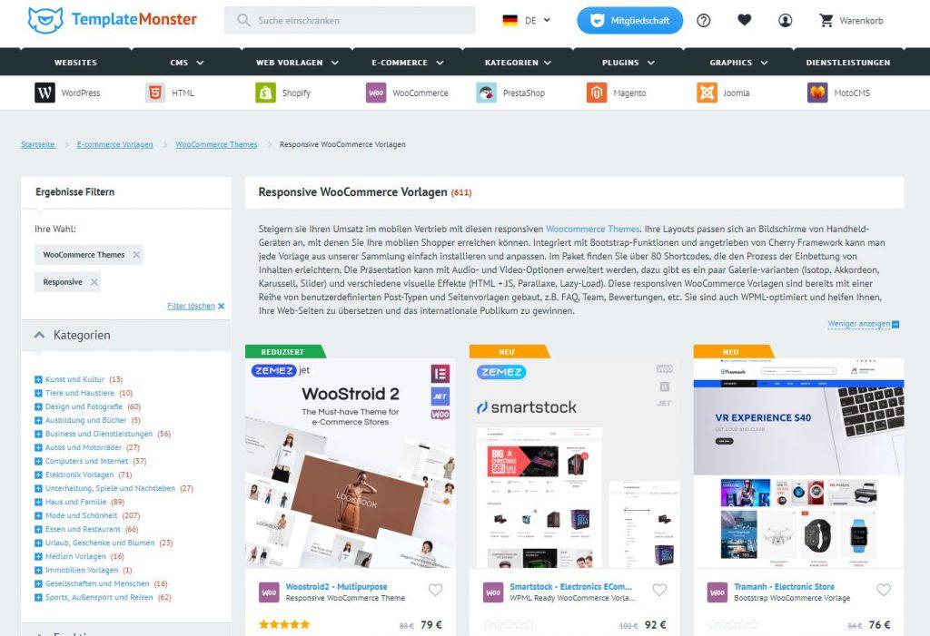 WooCommerce Themes einkaufen