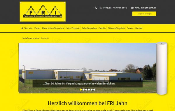 Frankfurter Rollenpapier – Industrie Jahn oHG