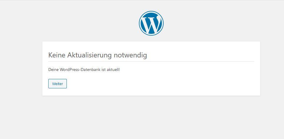 Wordpress 5.3 keine aktualisierung notwendig